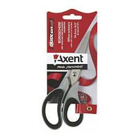 Ножницы Axent Duoton Soft 16,5см канцелярские серо-черные 6101-01-А