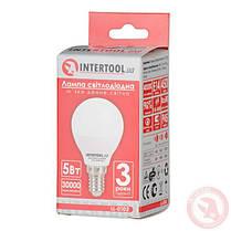 Светодиодная лампа LED 5Вт, E14, 220В, INTERTOOL LL-0102, фото 3