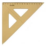 Линейка-треугольник Koh-i-noor 45/177 акрил дымчатый 744151