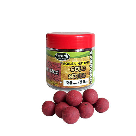 Бойлы насадочные вареные Boilies Gold series Instant Hookbaits Robin Red
