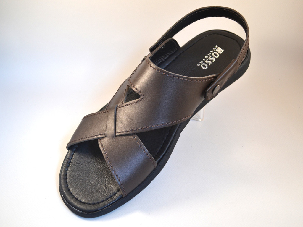 Большой размер сандалии босоножки мужские кожаные коричневые Rosso Avangard BS Sandals Bertal Brown