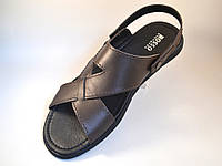 Сандалии босоножки кожаные коричневые мужская обувь больших размеров Rosso Avangard BS Sandals Bertal Brown, фото 1