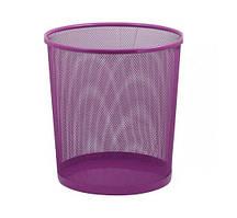 Корзина для бумаг ZiBi офисная круглая 295x295x280мм метал розовый (ZB.3126-10)
