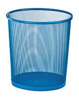 Корзина для бумаг ZiBi офисная круглая 295x295x280мм метал синий (ZB.3126-02)