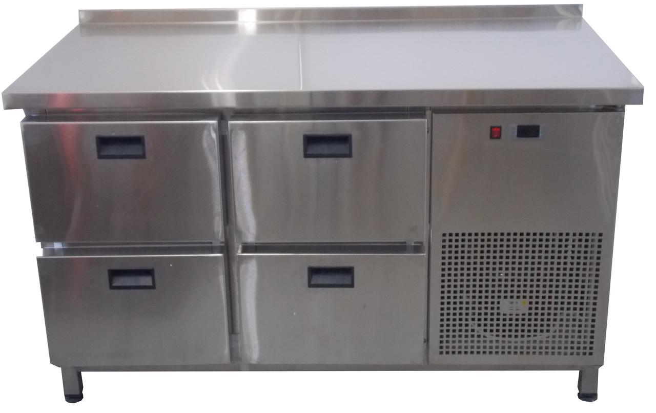 Холодильный стол 4 выдвижных ящика Tehma 1400х700х850