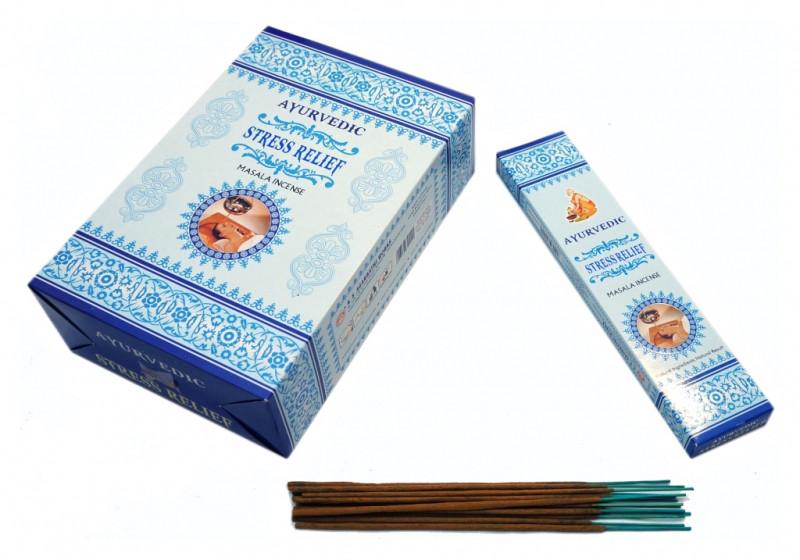 Благовония пыльцевые Ayurvedic Stress Relief 20 грамм (плоская пачка)