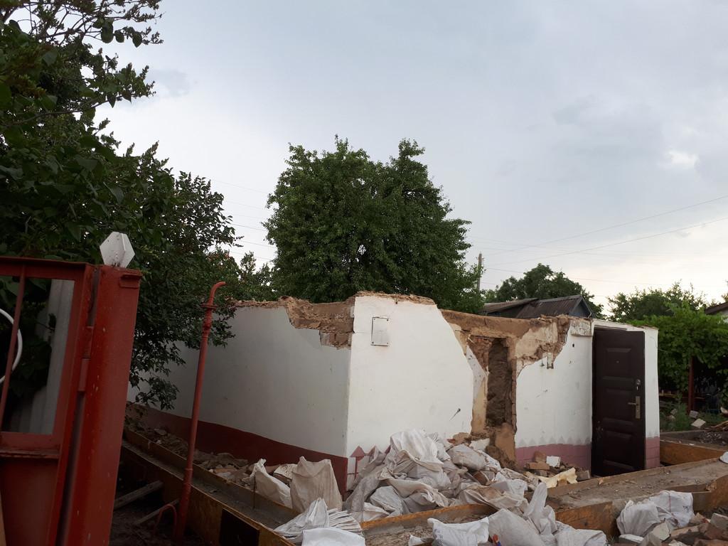 Демонтаж небольшого дома в Рыбальском 20