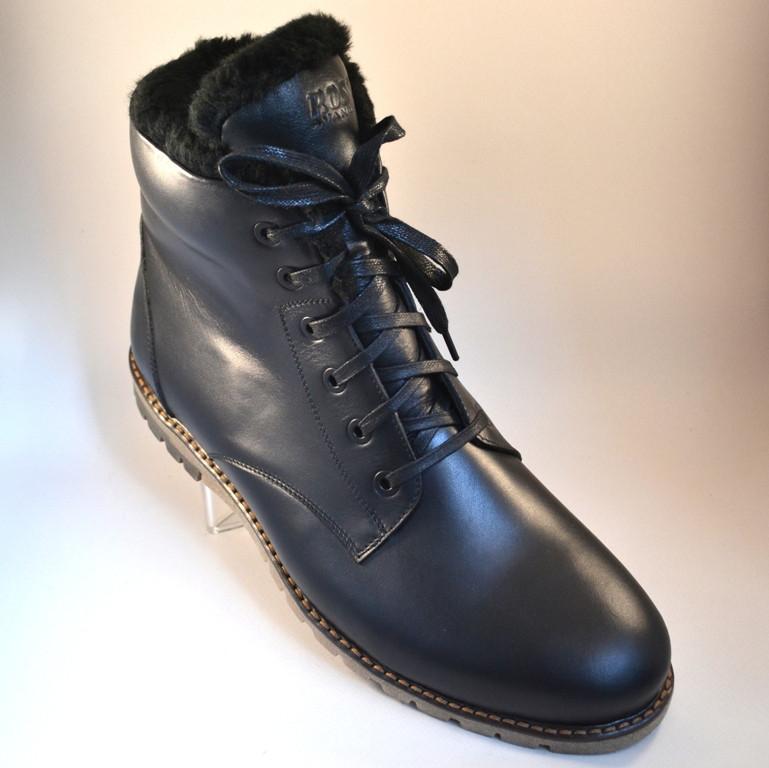 46061bf12e5f Кожаные зимние мужские ботинки Rosso Avangard Night Whisper Black черные 42  -