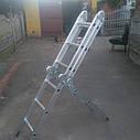 Лестница алюминиева трансформер 4#3 HIGHER, фото 5