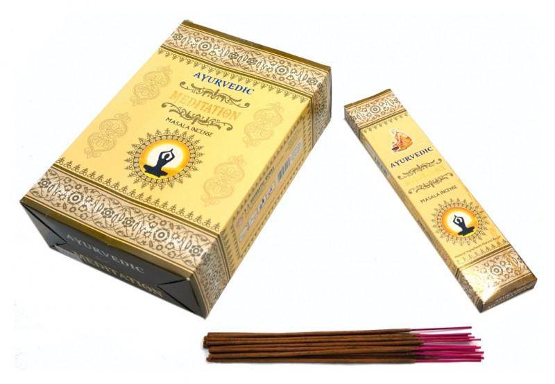 Пахощі пилкові Ayurvedic Meditation 20 грам (плоска пачка)