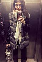 Демисезонная куртка с эко мехом...S-M