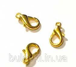 Застежка-карабин цвет золото 10мм (маленький)