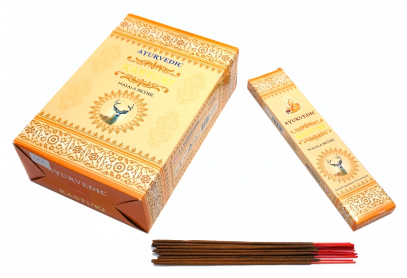 Пахощі пилкові Ayurvedic Kasturi 20 грам (плоска пачка)
