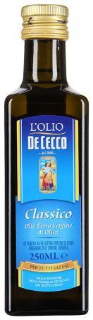Оливковое масло  Extra Vergine Classico De Cecco , 250 мл