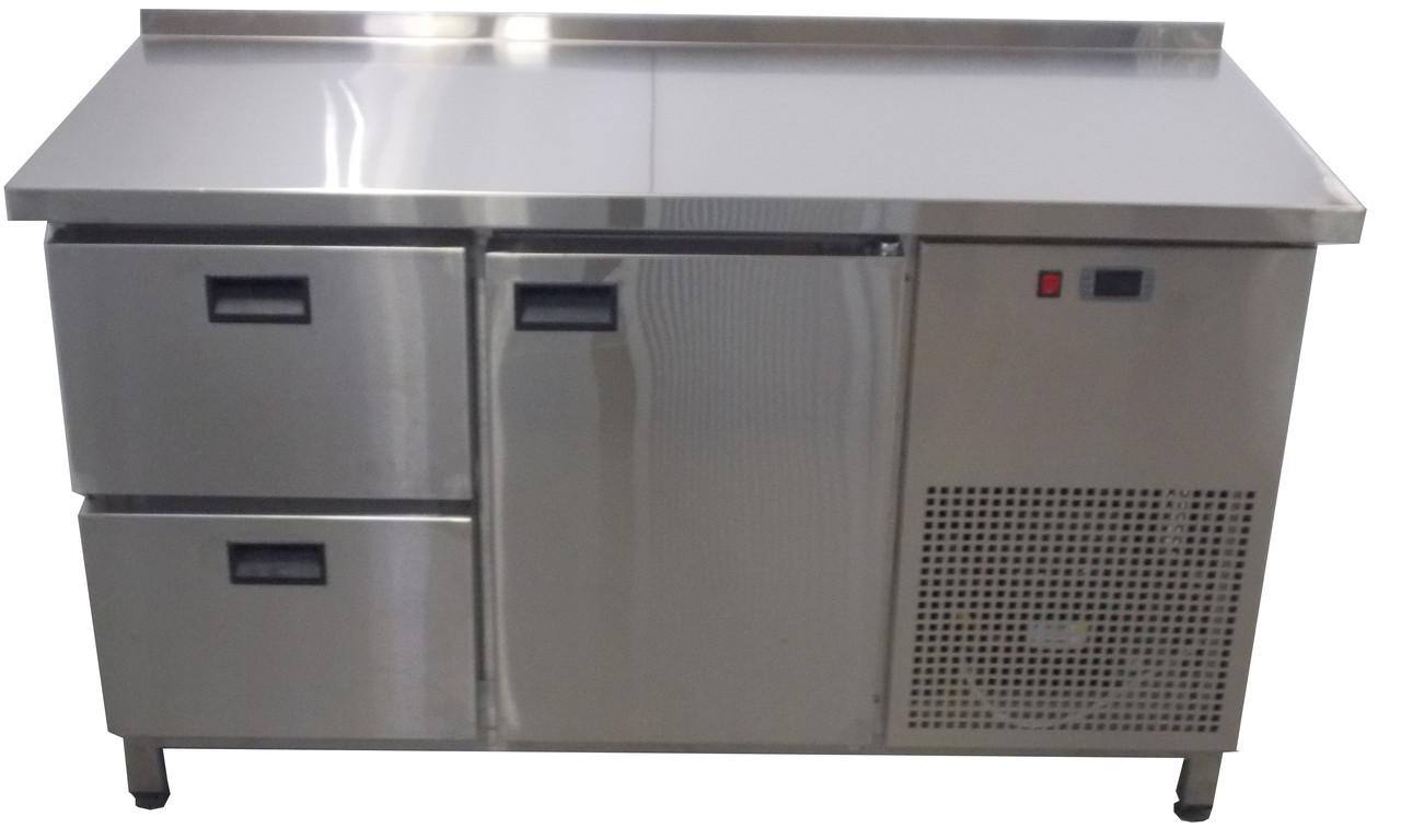 Холодильный стол 1дверь+ 2 выдвижных ящика  Tehma 1400х700х850