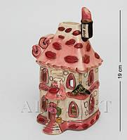 Фарфоровый подсвечник-домик Салон красоты