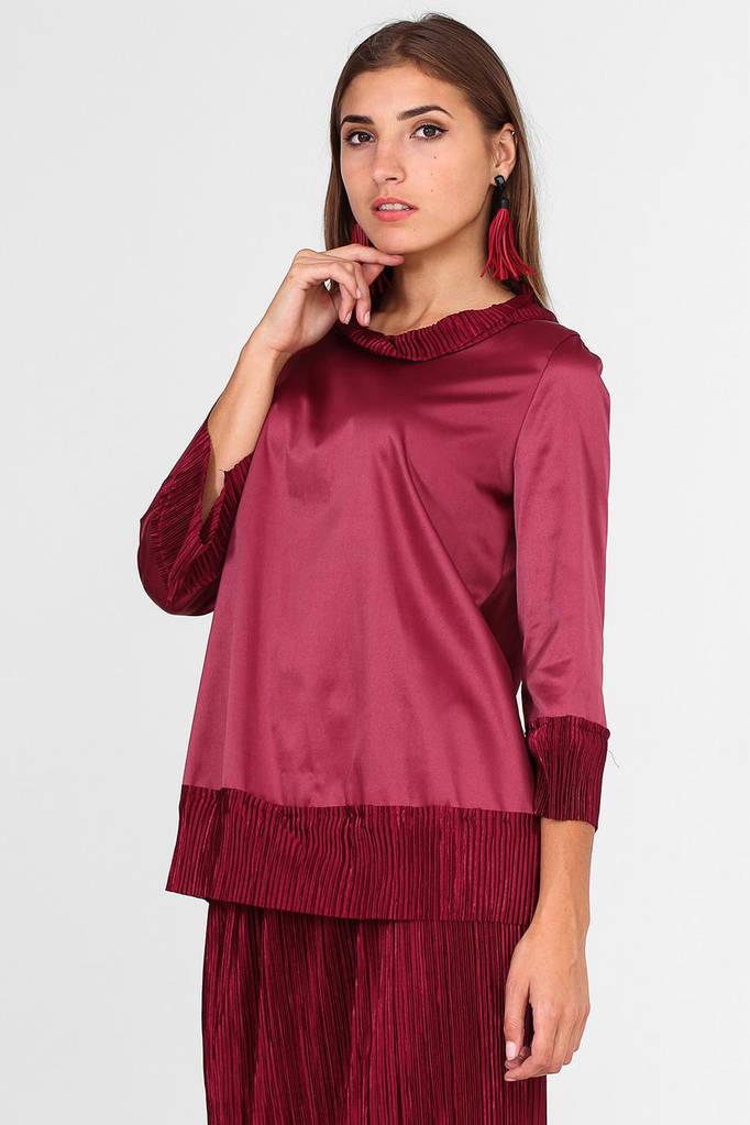 Бордовый блузон LINDA