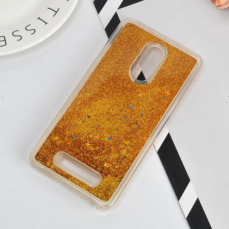 Чехол Glitter для Xiaomi Redmi Note 3 / Note 3 Pro Бампер жидкий блеск Gold