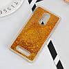 Чехол Бампер Glitter для Xiaomi Redmi Note 3 / Note 3 Pro с блестками Gold