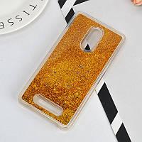 Чехол Бампер Glitter для Xiaomi Redmi Note 3 / Note 3 Pro с блестками Gold, фото 1
