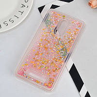 Чехол Glitter для Xiaomi Redmi Note 3 / Note 3 Pro Бампер жидкий блеск звезды Розовый
