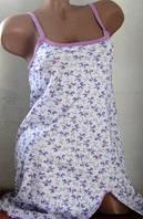 Сорочка женская из хлопка. Размеры: 42-48, фото 1