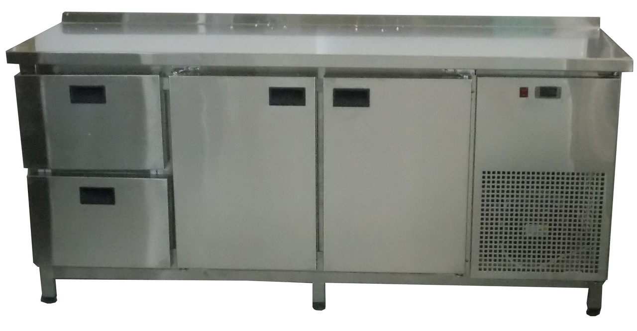 Холодильный стол 2 двери+ 2 выдвижных ящика  Tehma 1860х600х850