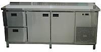 Стол холодильный 1860х700х850мм  2 двери+ 2 выдвижных ящика с бортом