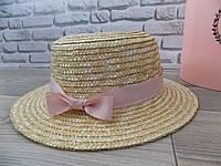 Шляпа соломенная канотье