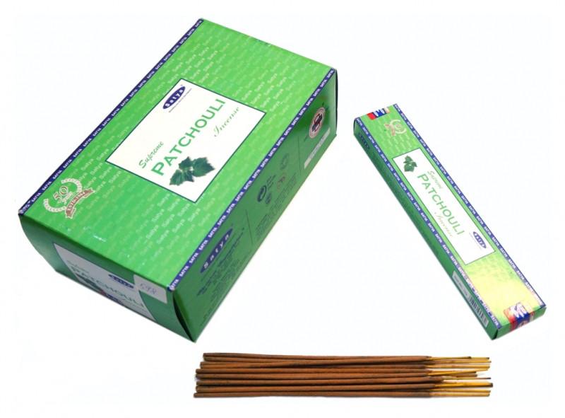 Благовония Satya Supreme Patchouli (плоская пачка) 15 грамм