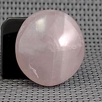 Розовый кварц, срез камня полированный, 335ФГР