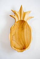 Блюдо з дерева -ананас, ручна робота