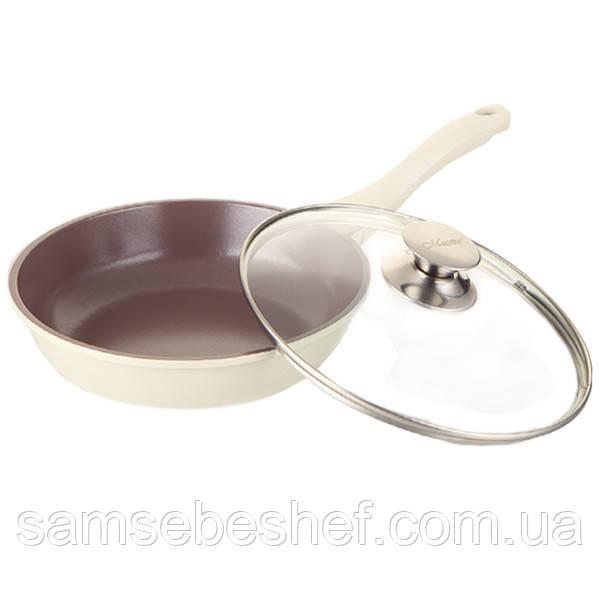 Сковорода белая Maestro Cast 24 см, MR 1222-24