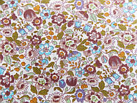 Отрез ткани коричневые цветы 50 х 50 см.