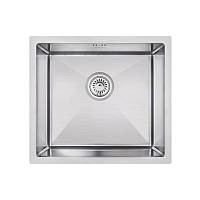Кухонная мойка стальная Imperial прямоугольная - (размер 460x450 мм), микротекстура,  сталь 1,2 мм