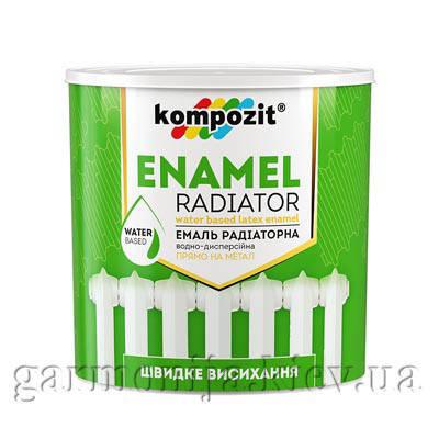 Эмаль радиаторная Kompozit, 0.75л, Белый, матовая, фото 2