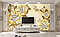 """3D фотообои """"Золотые цветы"""", фото 3"""