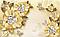 """3D фотообои """"Золотые цветы"""", фото 2"""