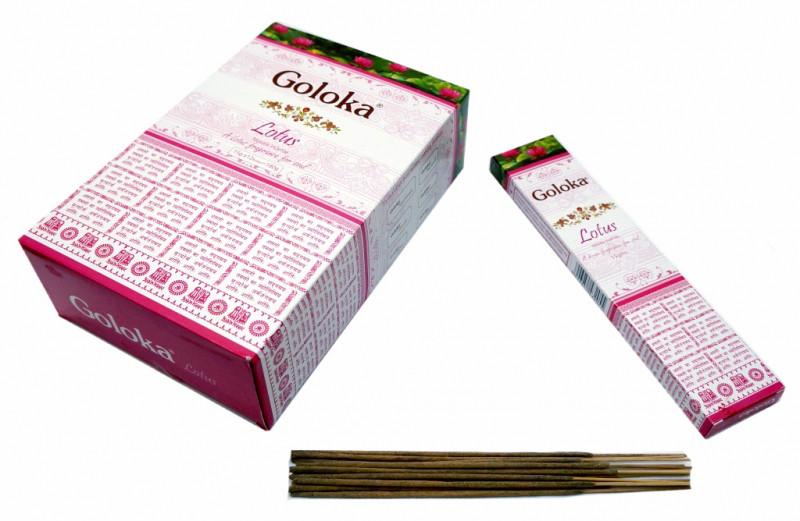 Благовония Goloka Lotus 13 палочек в пачке 15 грамм