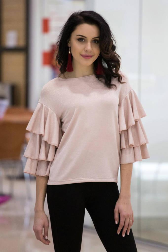 Блуза SUSAN цвета пудры