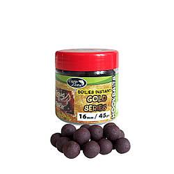 Бойлы насадочные вареные CarpZone Boilies Gold series Instant Hookbaits Squid & Spice