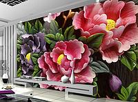 """3D фотообои """"Яркие цветы"""""""