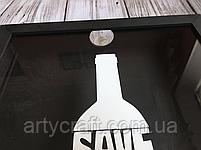 Копилка для винных пробок Drink Wine 36x27х5 см Черная, фото 2