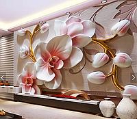 "3D фотообои ""Нежно-розовые орхидеи"""