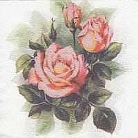 Декупажная салфетка Розы 7606