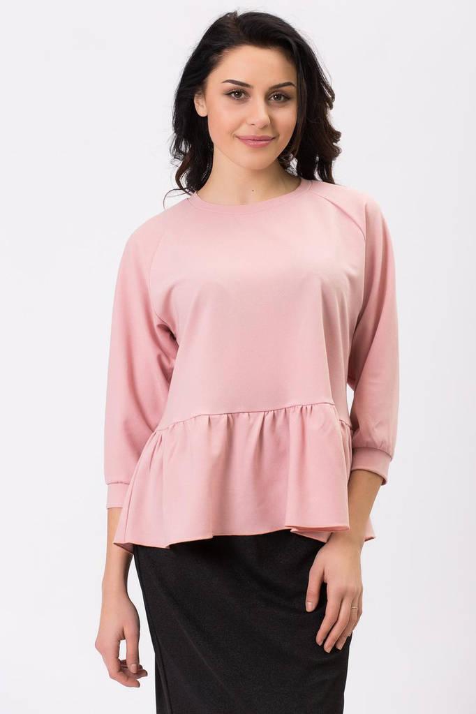 Пудровая блуза CRISTAL с пелериной