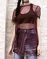 Стильная модная женская туника-сетка хамелеон. 2 цвета. Размеры : 40,42,44,46., фото 1