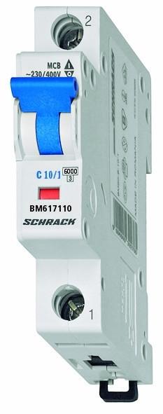 Автоматический выключатель BM6 1p C 2А (6 kA)