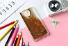 Чехол Бампер Glitter Жидкий блеск для Meizu M3 Note с блестками Gold