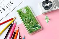 Чехол Бампер Glitter Жидкий блеск для Meizu M3 Note с блестками Green